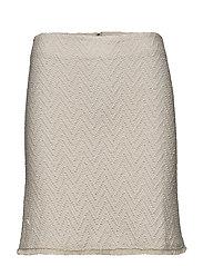 Textured cotton skirt - LIGHT BEIGE