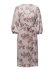 Floral chiffon dress - PINK