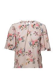 Printed chiffon blouse - PINK