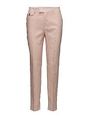 Pocket linen-blend trousers - PINK
