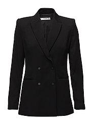 Padded shoulder blazer - BLACK