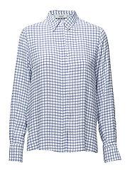 Printed flowy shirt - LT-PASTEL BLUE