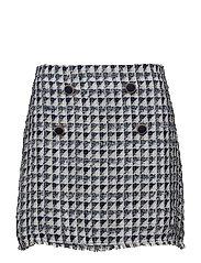 Tweed skirt - MEDIUM BLUE