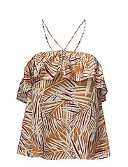 Mango - Ruffle Printed Top