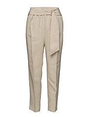 Belt line trousers - LT PASTEL BROWN