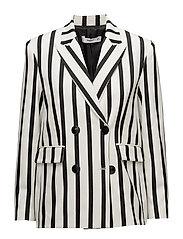 Striped suit blazer - WHITE
