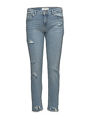 Ripped details slim-fit jeans - OPEN BLUE