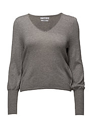 Ribbed metallic sweater - MEDIUM GREY