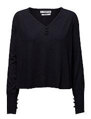 V-neckline sweater - NAVY