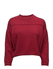 Studded sweater - RED