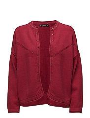 Studded cardigan - RED