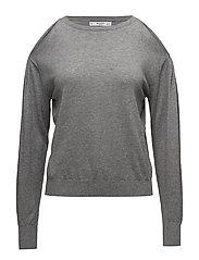 Cold-shoulder sweater - MEDIUM GREY