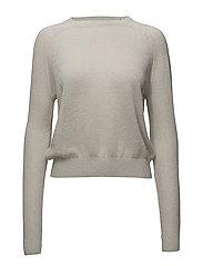 Metallic finish sweater - WHITE
