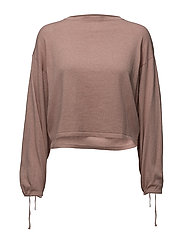 Puffed sleeves sweater - LT-PASTEL PINK
