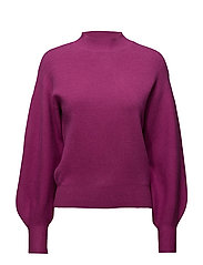 Puffed sleeves sweater - BRIGHT PINK