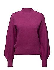 Puffed sleeves sweater