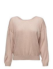 Back vent sweater - LT-PASTEL PINK
