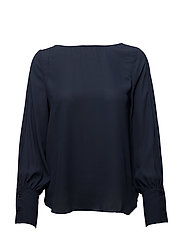 Back bow blouse - NAVY