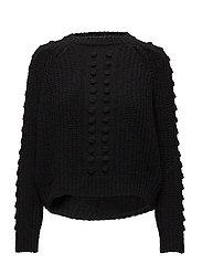 Chunky-knit sweater - BLACK