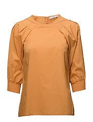 Pleat detail blouse - MEDIUM YELLOW