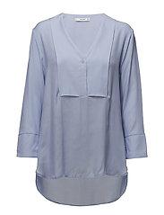Flowy panel blouse - LT-PASTEL BLUE