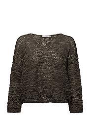 Open-knit sweater - BEIGE - KHAKI
