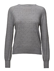 Crystal detail sweatshirt - LT PASTEL GREY