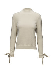 Sleeve knotted sweater - LIGHT BEIGE