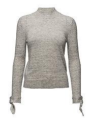 Sleeve knotted sweater - MEDIUM GREY
