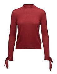 Sleeve knotted sweater - MEDIUM RED