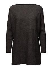 Fine-knit oversize sweater - GREY