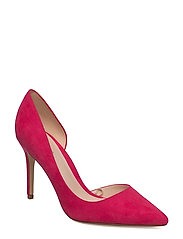 Asymmetric stiletto shoes - MEDIUM PINK