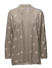 Polka-dot metallic cardigan - LT PASTEL GREY