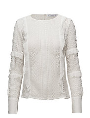 Guipure blouse - NATURAL WHITE