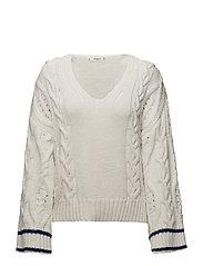Sleeve detail swearshirt - LIGHT BEIGE