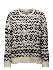 Pearls knitted sweater - LIGHT BEIGE