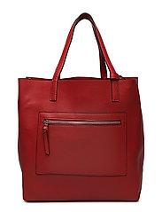 Pebbled shopper bag - RED
