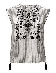 Printed cotton blouse - BLACK