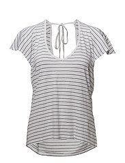 Flared sleeve t-shirt - NAVY