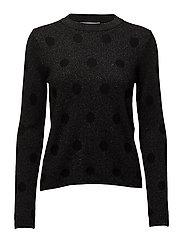 Polka-dot metallic sweater - BLACK