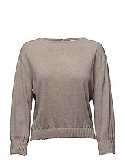 Ruched detail sweater - LIGHT BEIGE
