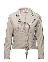Fringe jacket - NATURAL WHITE