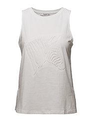 3D texture detail t-shirt - WHITE
