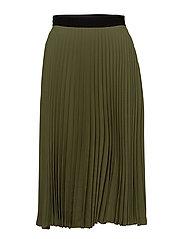 Pleated midi skirt - BEIGE - KHAKI