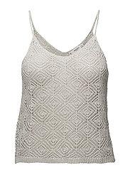 Metallic knit top - SILVER