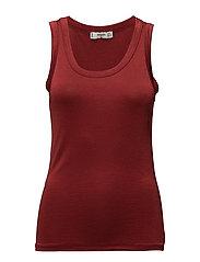 Metallic knit top - RED