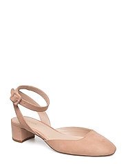 Ankle-cuff slingback shoes - LT-PASTEL PINK