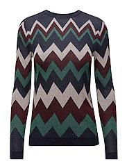 Metallic striped sweater - NAVY