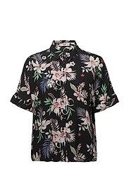 Floral print shirt - NAVY