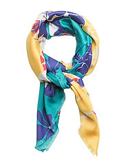 Flowers printed scarf - YELLOW